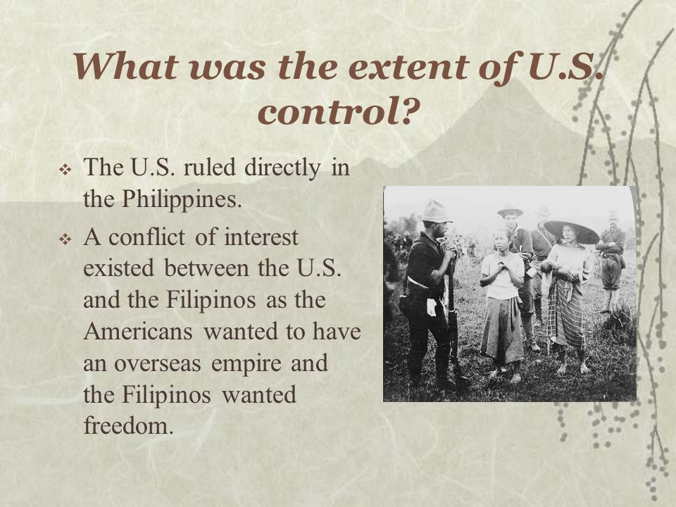 How did the U.S. Gain control? The United States gained control of the Philippines as a result of the Spanish-American war. The Treaty of Paris gave G