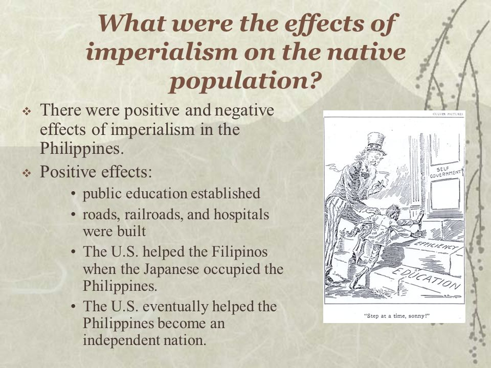 What were the effects of imperialism on the native population.