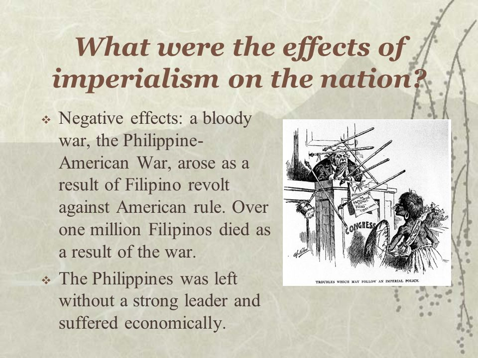 What were the effects of imperialism on the nation.
