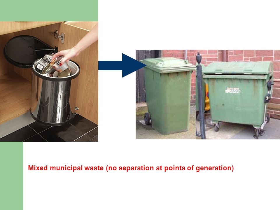Mixed municipal waste (no separation at points of generation)