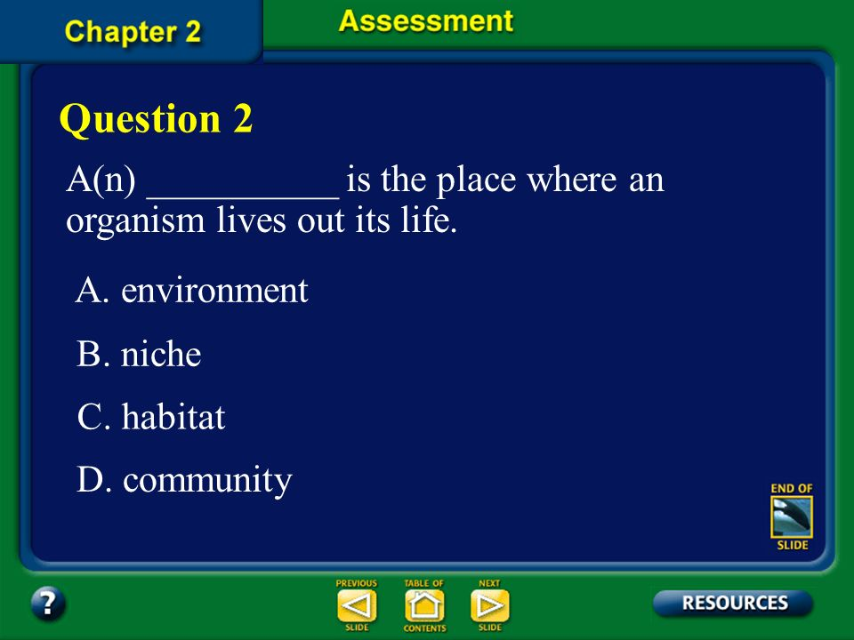 The answer is A. A biological community consists of all the populations of different species that live in the same place at the same time and does not