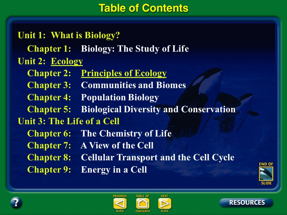 Section 2.1 Summary – pages 35 - 45 Levels of Organization Ecologists study individual organisms, interactions among organisms of the same species, interactions among organisms of different species, as well as the effects of abiotic factors on interacting species.