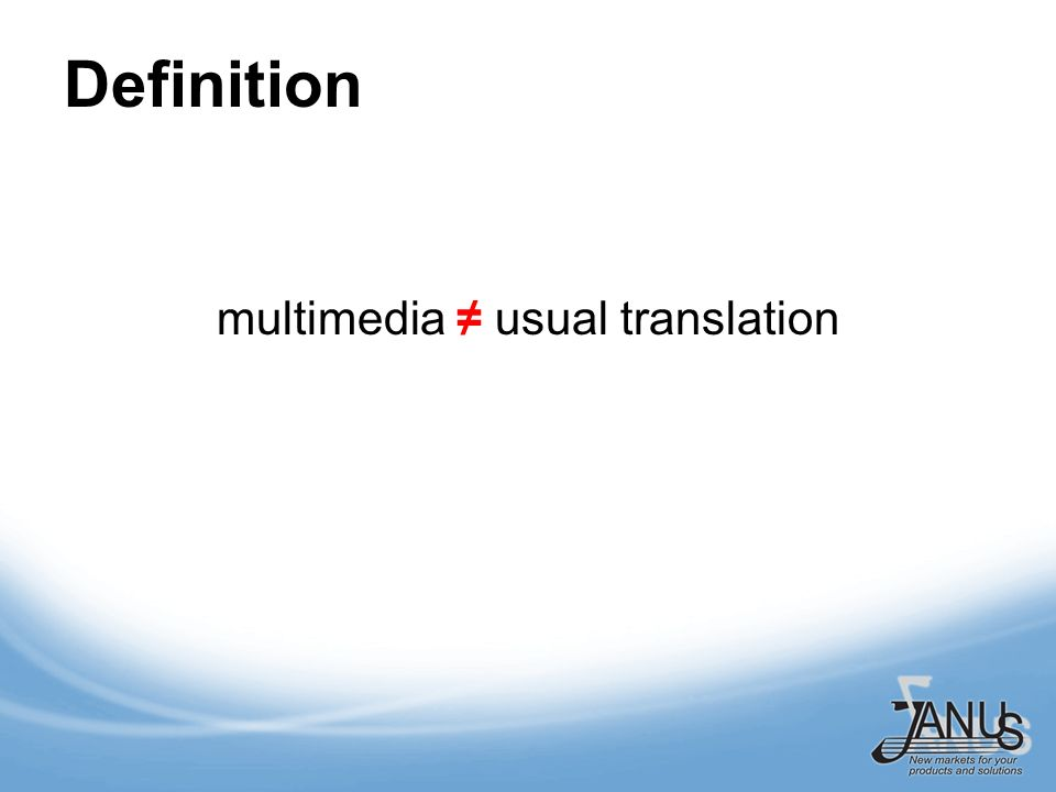 Definition multimedia usual translation