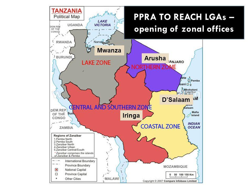 Mwanza Arusha Iringa DSalaam PPRA TO REACH LGAs – opening of zonal offices