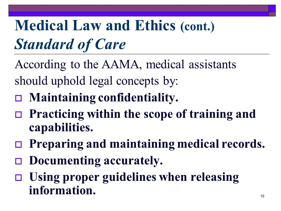 17 Law of Agency Employees are considered to be agents of the physician while performing professional tasks. Physicians are thereby responsible or lia