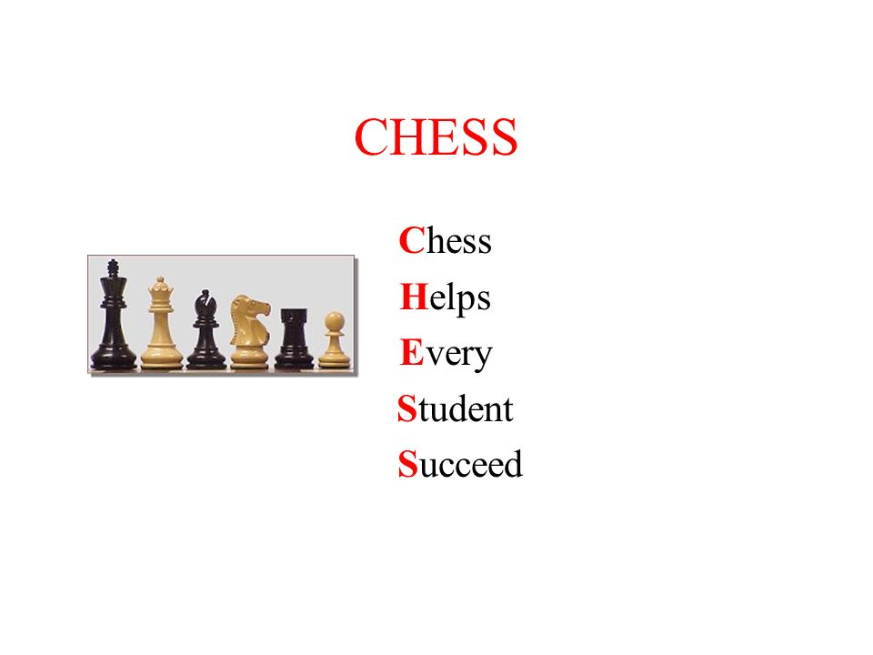Purpose This presentation describes the value of using chess as a key component during a mentoring/counseling relationship Adult mentors and Peer High School mentors develop successful relationships with their mentees using the chess game as a metaphor for life situations This presentation explains how chess is used to address the social emotional needs of students