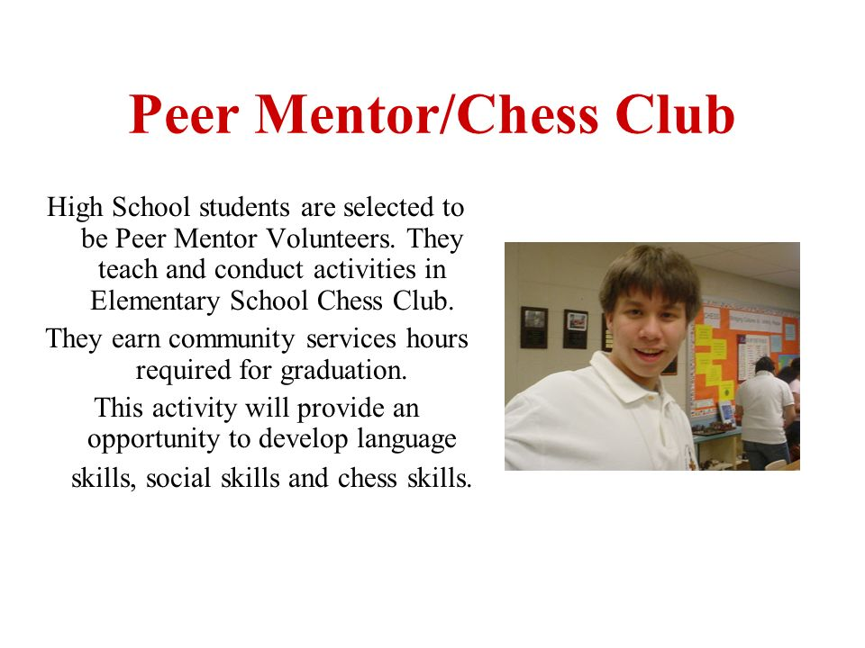 A variety of specific chess positions correlated to social situations will be presented in my presentation called : Teaching Life Skills Through Chess.