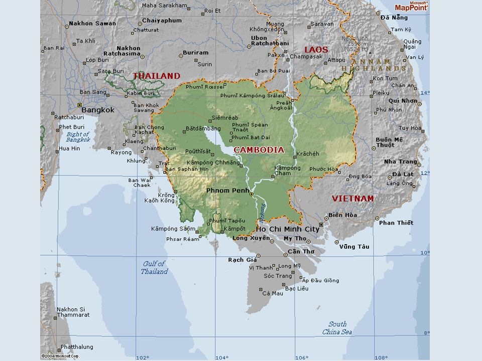 Introduction to Cambodia Borders: Thailand, Laos, and Vietnam Borders: Thailand, Laos, and Vietnam Before 1970 Cambodia was fairly rich in natural and agricultural resources.