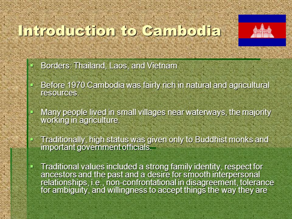 Destruction of a Culture In 1975, the Khmer Rouge overthrew the government and abolished the monarchy.