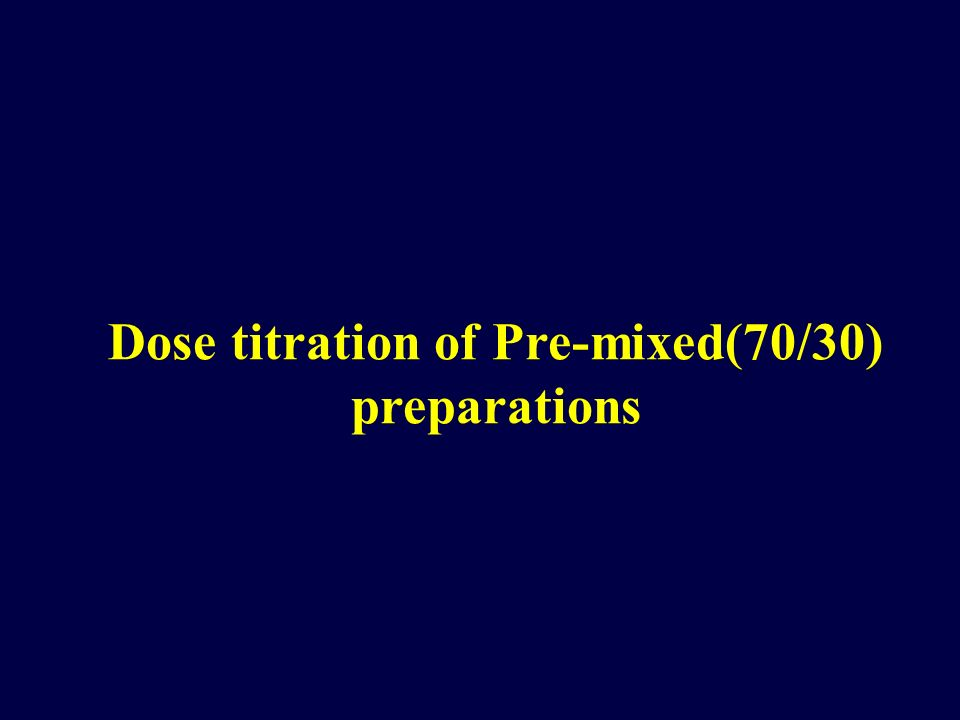Dose titration of Pre-mixed(70/30) preparations