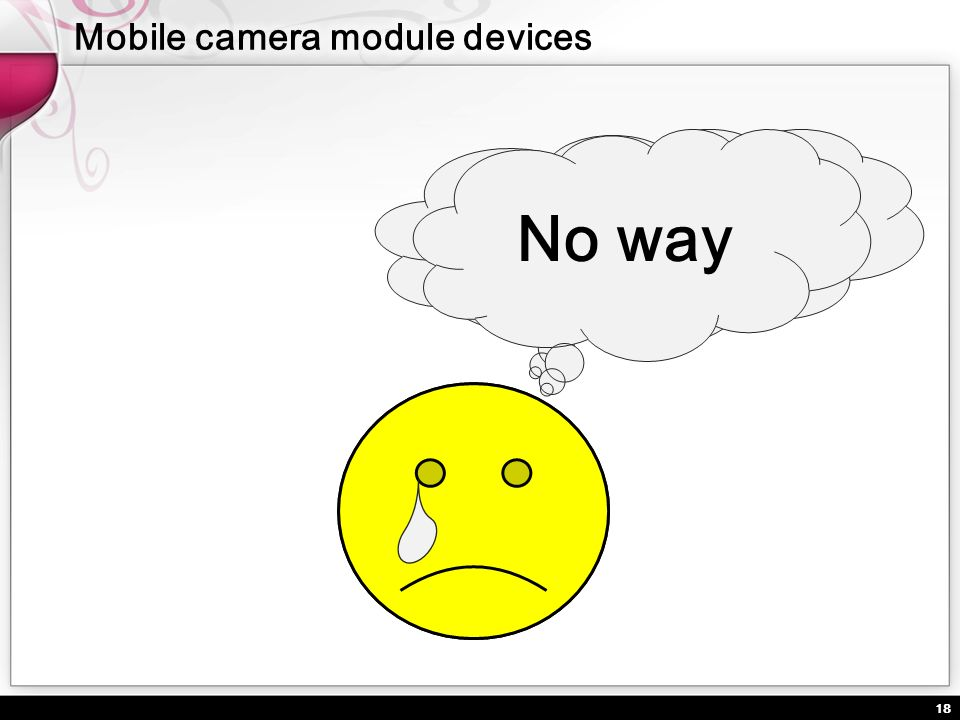 18 Is V4L2 enough for mobile digital camera modules? No way