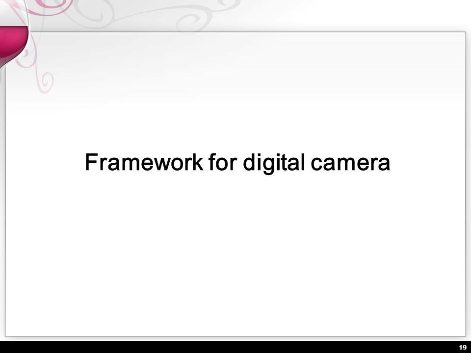 19 Framework for digital camera