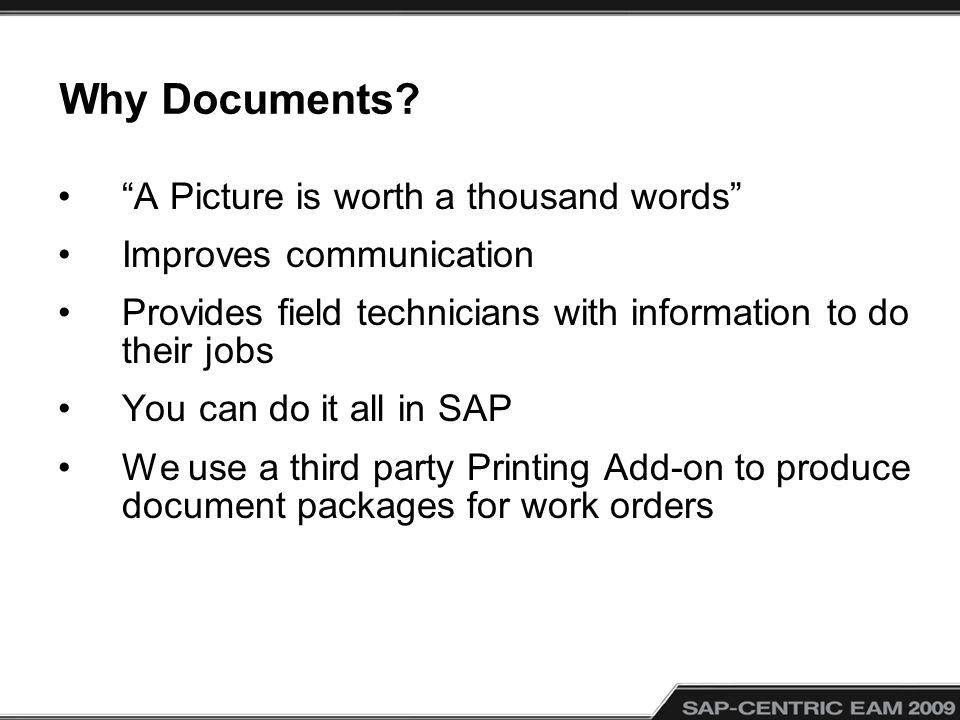 Why Documents.