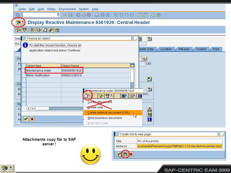 Attachments copy file to SAP server !