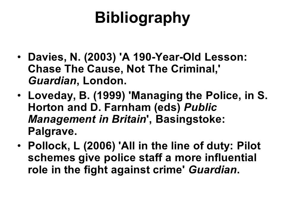 Bibliography Davies, N.