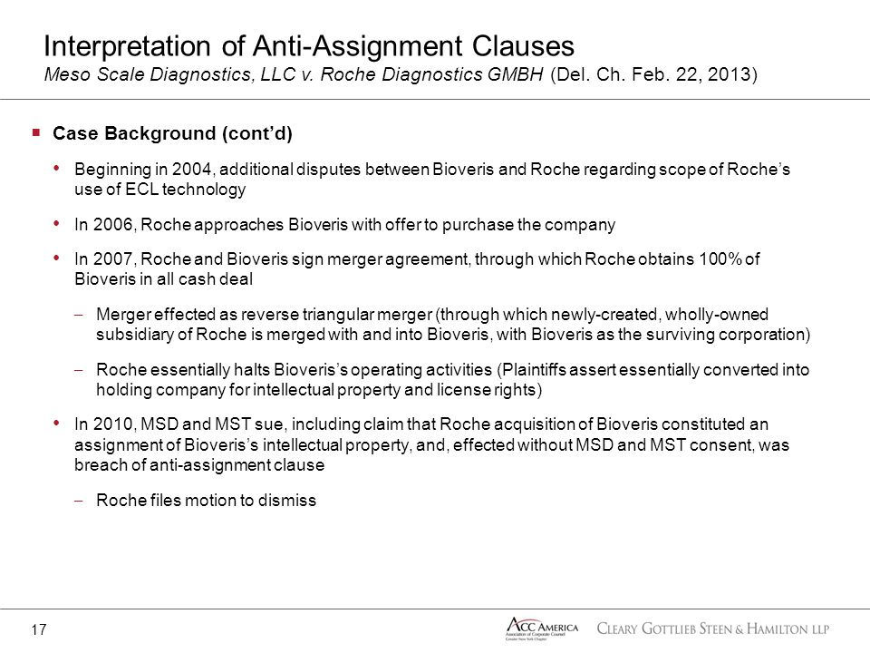 Case Background (contd) Beginning in 2004, additional disputes between Bioveris and Roche regarding scope of Roches use of ECL technology In 2006, Roc