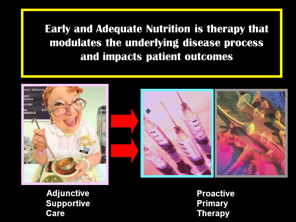 Adjunctive Supportive Care Proactive Primary Therapy Early and Adequate Nutrition is therapy that modulates the underlying disease process and impacts