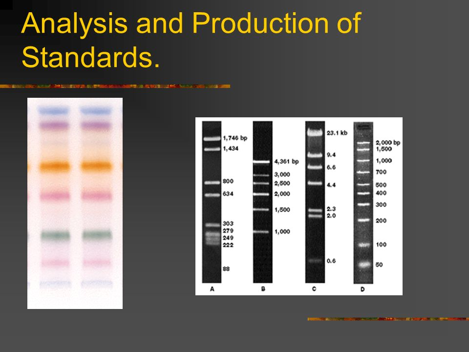 Analysis and Production of Standards.