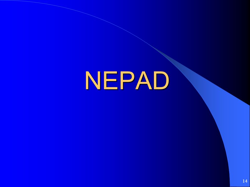 14 NEPAD