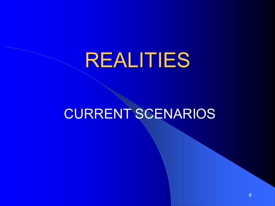 6 REALITIES CURRENT SCENARIOS
