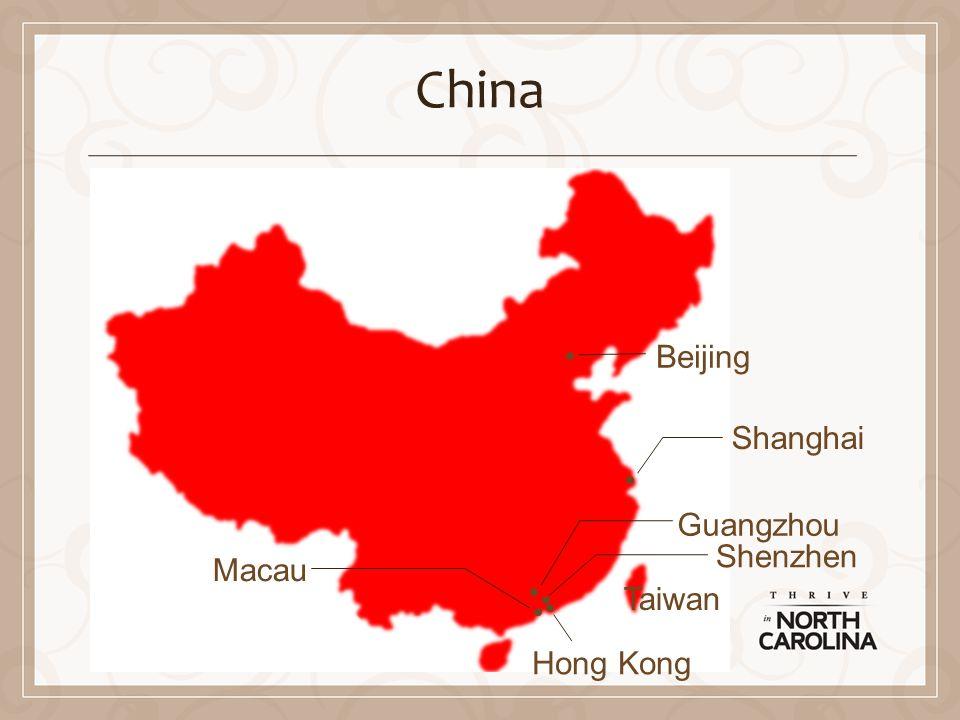 China Beijing Shanghai Guangzhou Shenzhen Hong Kong Macau Taiwan