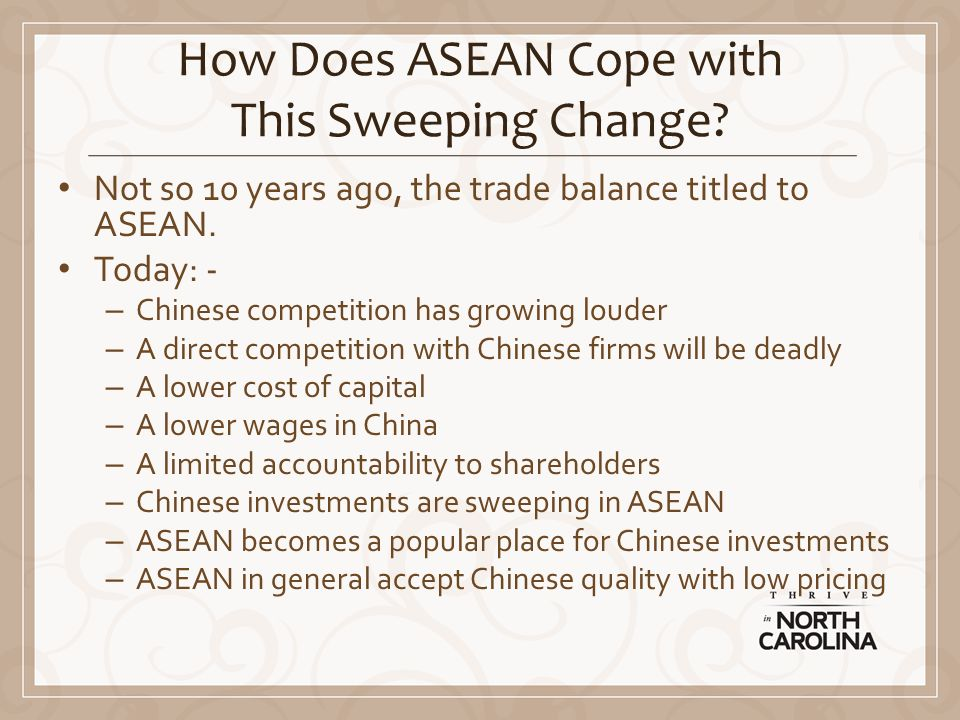 How Does ASEAN Cope with This Sweeping Change.