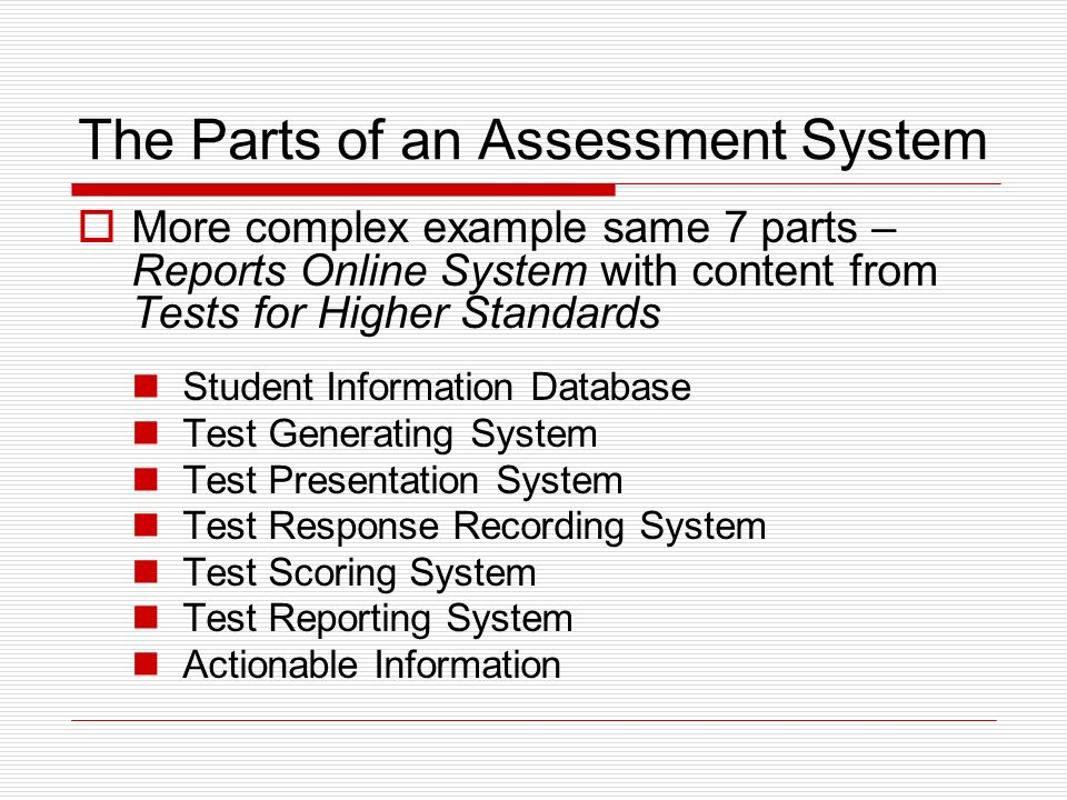 Choice Point Assessment systems In general ROS Online Testing ROS specifically, with reports ?