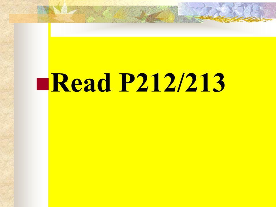 Read P212/213