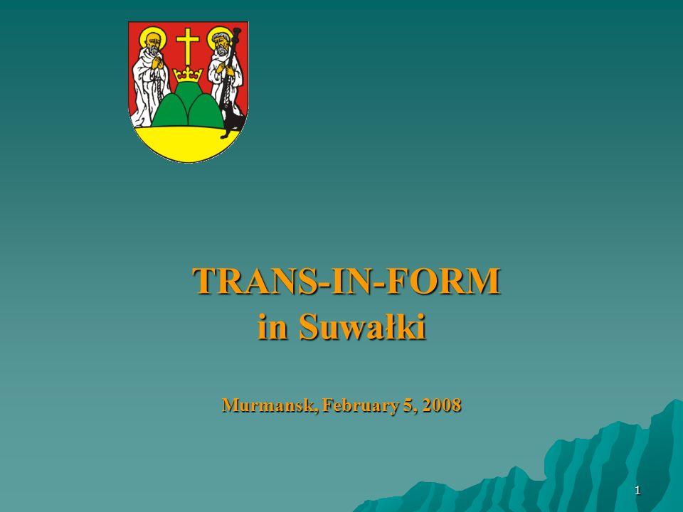 1 TRANS-IN-FORM in Suwałki Murmansk, February 5, 2008 TRANS-IN-FORM in Suwałki Murmansk, February 5, 2008