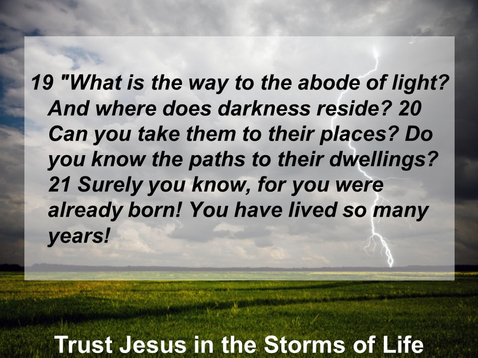 Trust Jesus in the Storms of Life 19