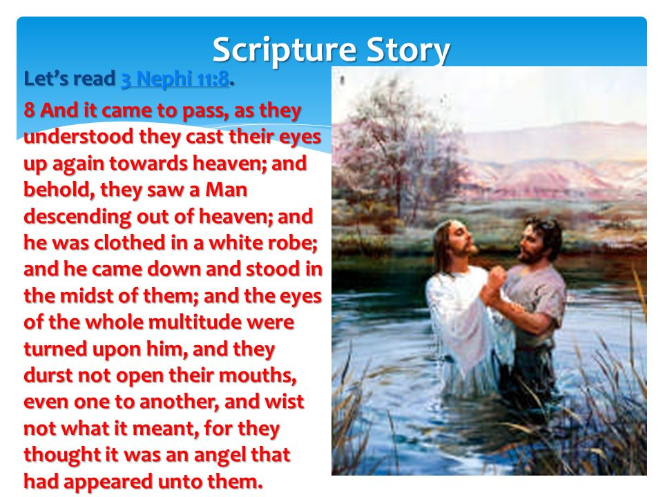 Heavenly Father was bearing testimony that Jesus is his Son. Heavenly Father was bearing testimony that Jesus is his Son. This is the Book of Mormon.