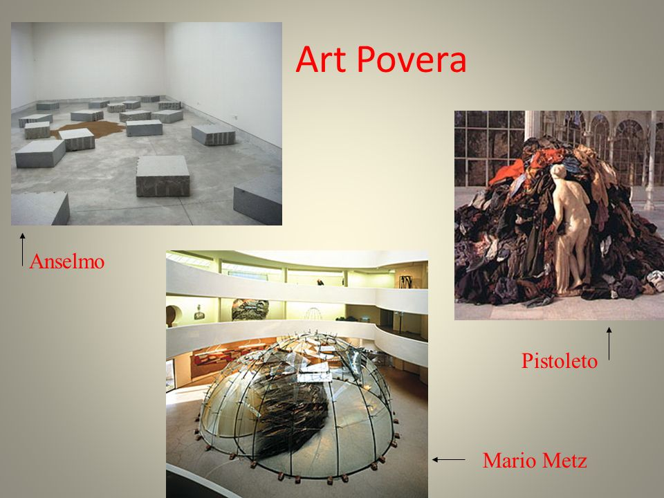Art Povera Anselmo Pistoleto Mario Metz