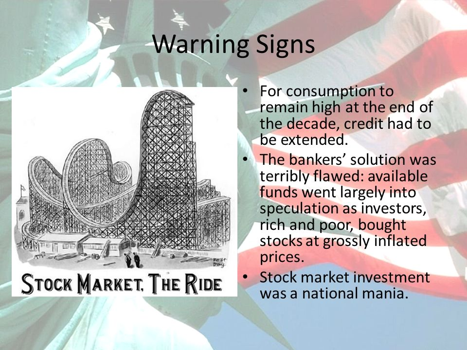 Warning Signs For consumption to remain high at the end of the decade, credit had to be extended.