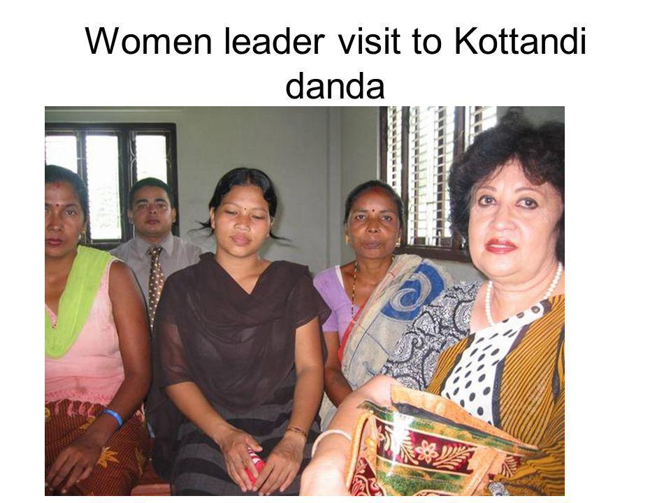 Women leader visit to Kottandi danda