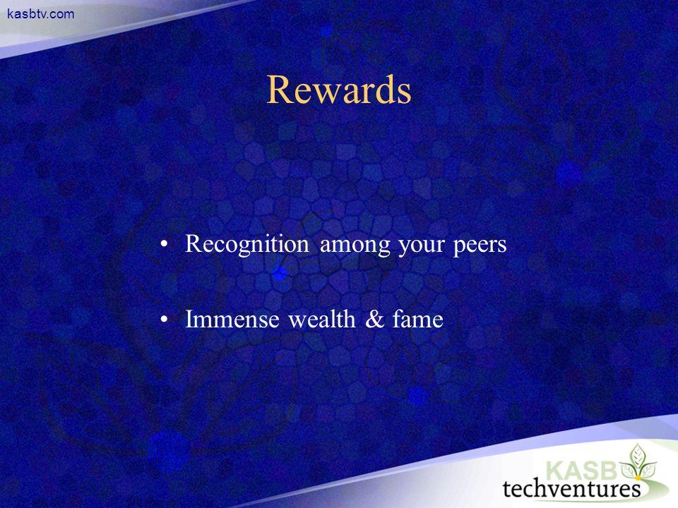 kasbtv.com Rewards Recognition among your peers Immense wealth & fame