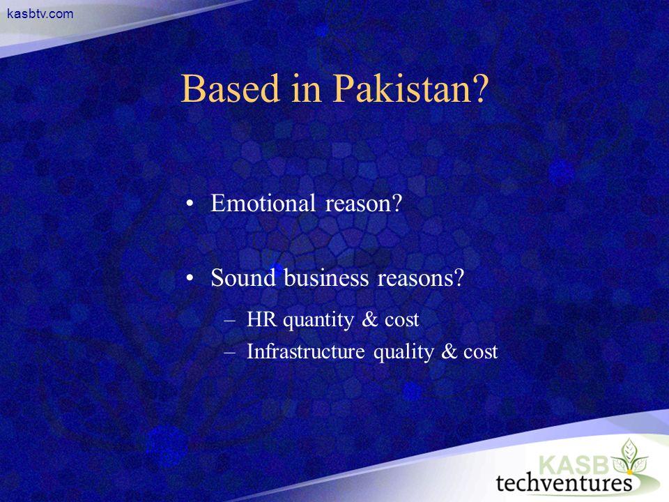 kasbtv.com Based in Pakistan. Emotional reason. Sound business reasons.