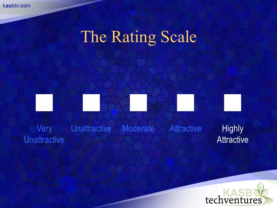 kasbtv.com The Rating Scale Very Unattractive UnattractiveModerateAttractiveHighly Attractive