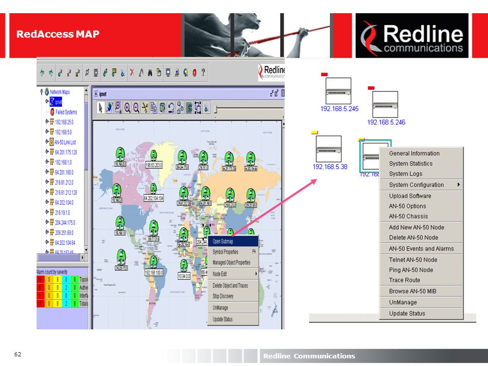 62 Redline Communications RedAccess MAP