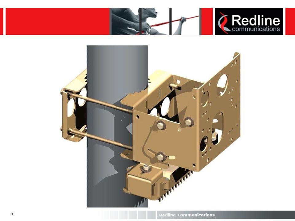 19 Redline Communications AN-50 Rx Performance Rx sensitivity: bit rate dependant Noise figure < 5 dB BER = 10-9 Ethernet PER < 10-6, System availability of 99.99 % Noise floor = -96 dBm Overloads at –34 dBm Designed to tolerate 0 dBm UBR (Mbps) RSSI (dBm) SINAD R (dB) 6-868 12-8411 18-8312 24-8115 36-7718 48-7023 54-6525