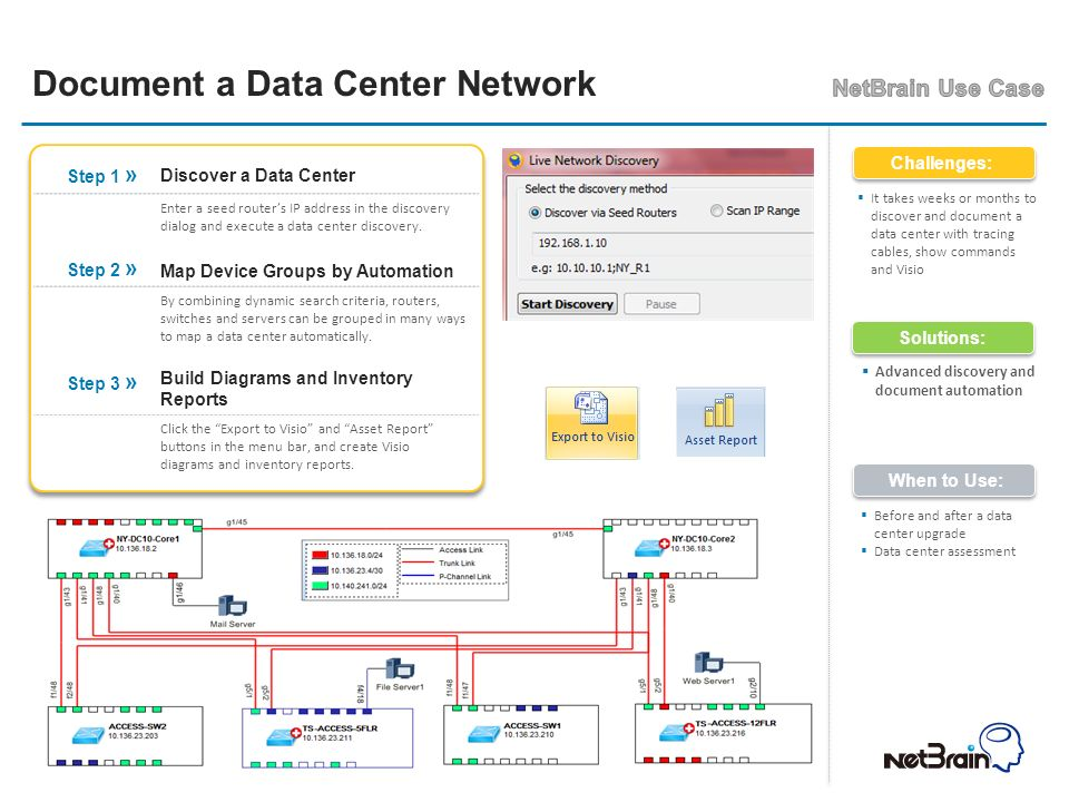 Step 1 » Discover a Data Center.