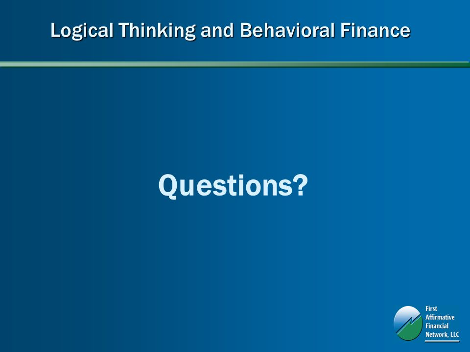 Logical Thinking and Behavioral Finance Questions