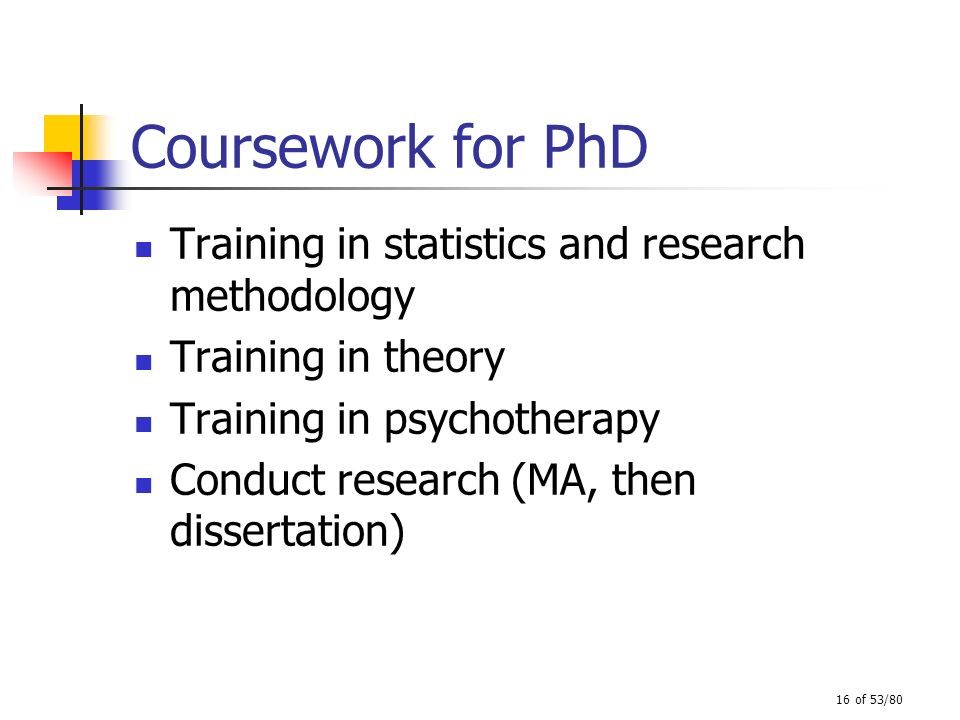 coursework masters phd