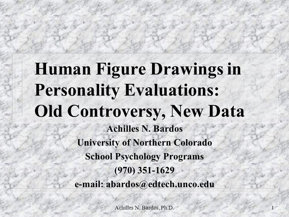 Achilles N.Bardos, Ph.D.31 DAP:SPED and Self Concept (study 1) Mean SDPearson Corr.