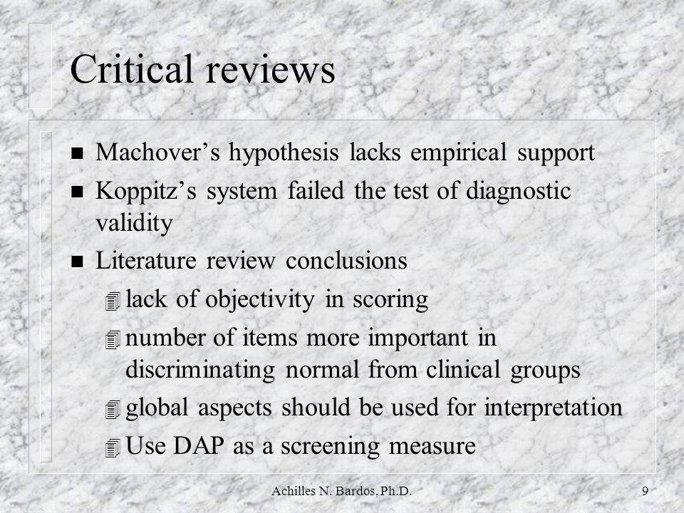 Achilles N. Bardos, Ph.D.19 Base Rates of Original Items