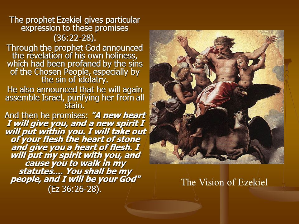 The prophet Ezekiel gives particular expression to these promises (36:22-28).