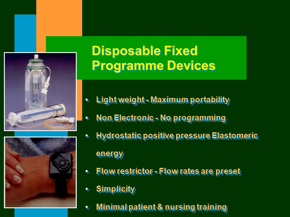 Disposable Fixed Programme Devices Light weight - Maximum portabilityLight weight - Maximum portability Non Electronic - No programmingNon Electronic