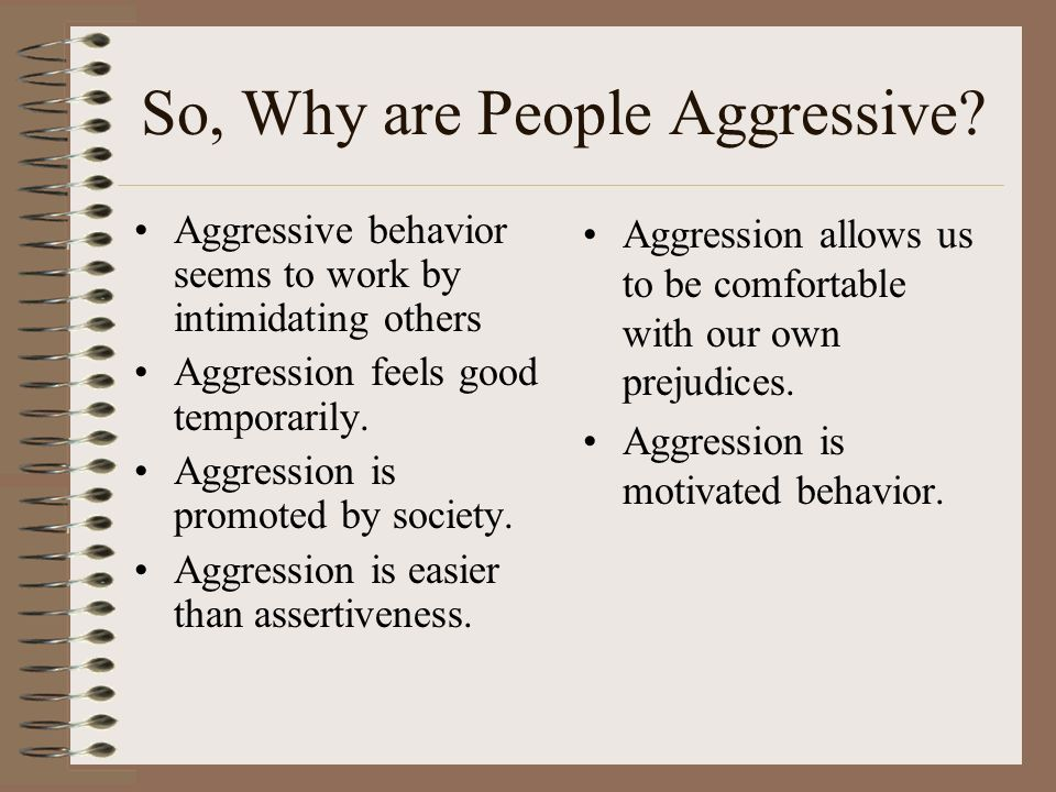 So, Why are People Aggressive.