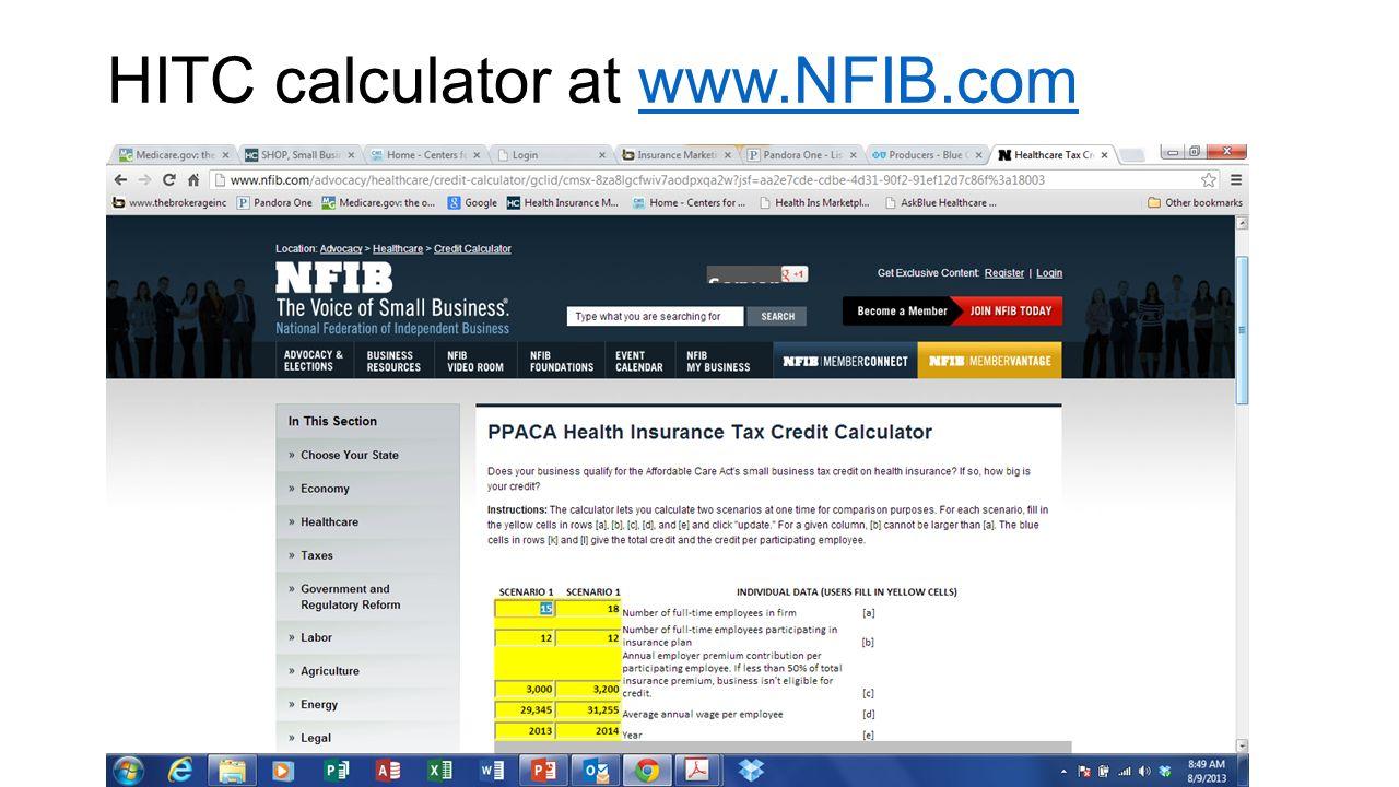 HITC calculator at www.NFIB.comwww.NFIB.com