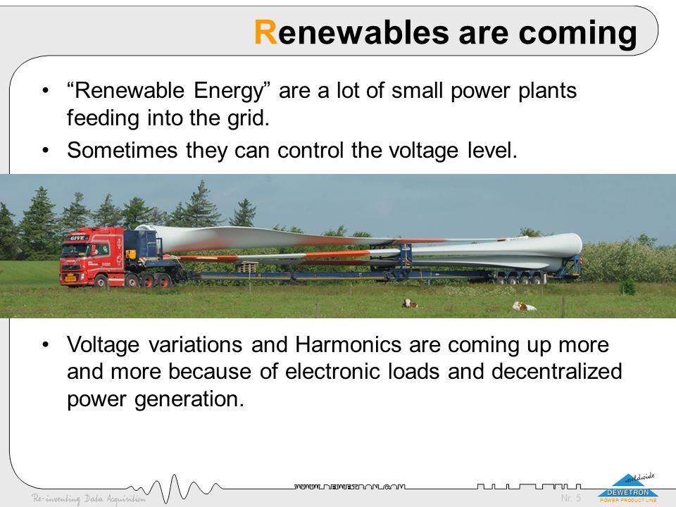 Nr.36 POWER PRODUCT LINE Wind Power Plants What makes wind mill measurements special .