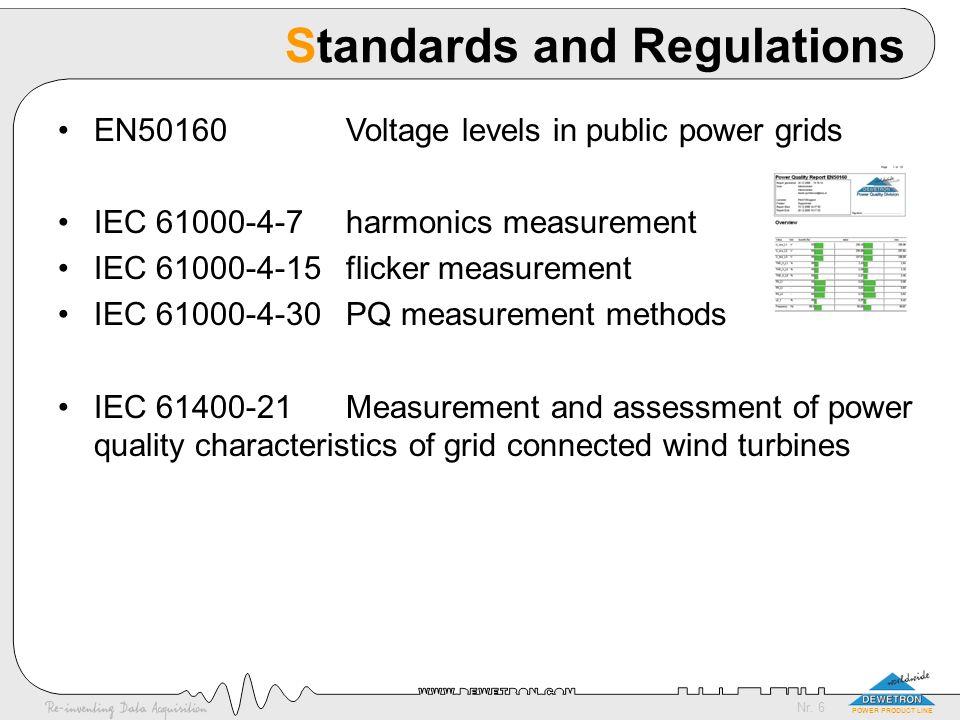 Nr. 17 POWER PRODUCT LINE EN 50160 (9) Transients Lower voltage: <6kV